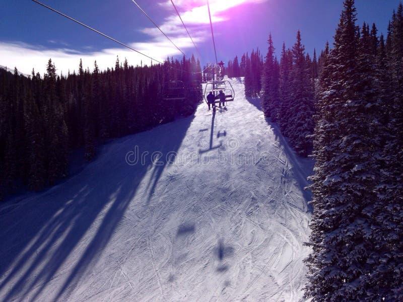Uma vista da parte superior de uma montanha perto de Avon Colorado fotografia de stock royalty free