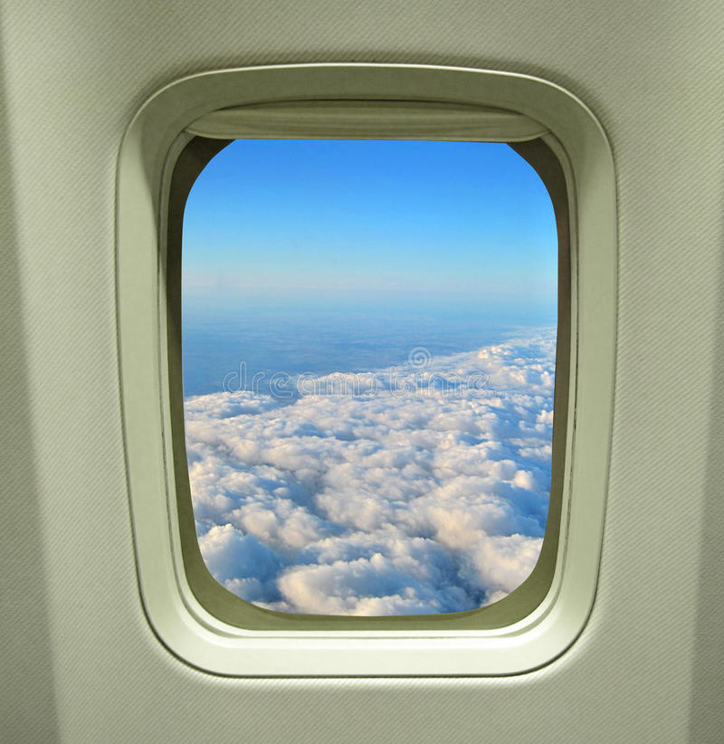 Uma vista das nuvens foto de stock