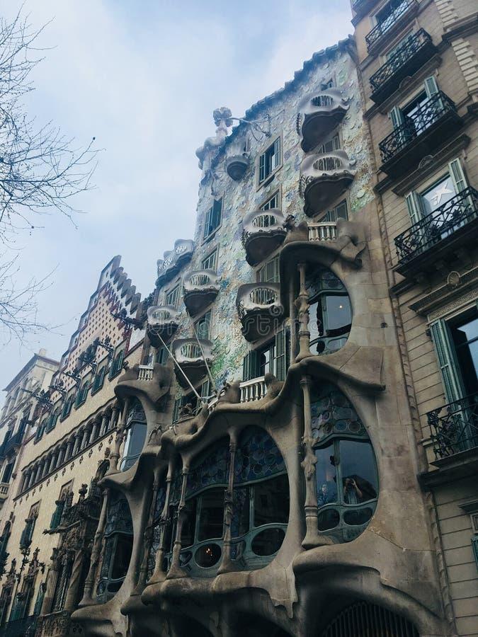 Uma vista de Gaudi imagem de stock royalty free