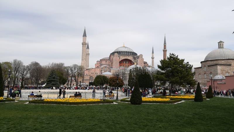 Uma vista de Hagia Sophia, Istambul, Turquia fotografia de stock