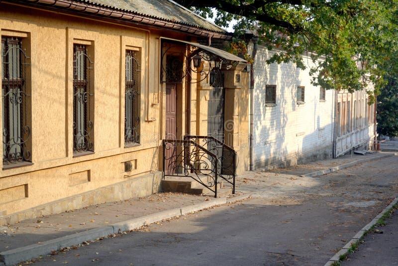 Uma vista de ruas velhas fotografia de stock royalty free