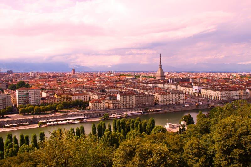 Uma vista de Turin foto de stock royalty free