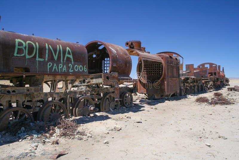 """Uma vista do deserto de sal paisagem no †de Bolívia - de Salar de Uyuni """" fotografia de stock royalty free"""