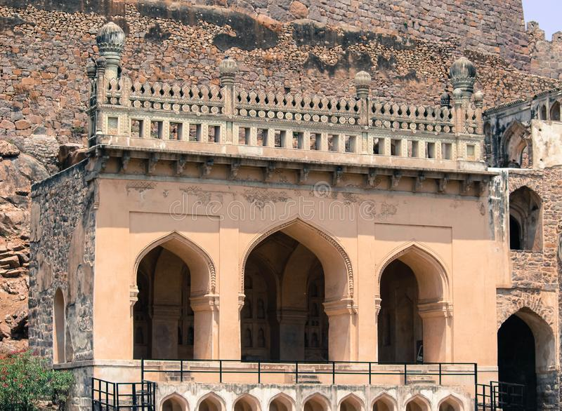 Uma vista do forte Hyderabad de Golconda fotografia de stock royalty free