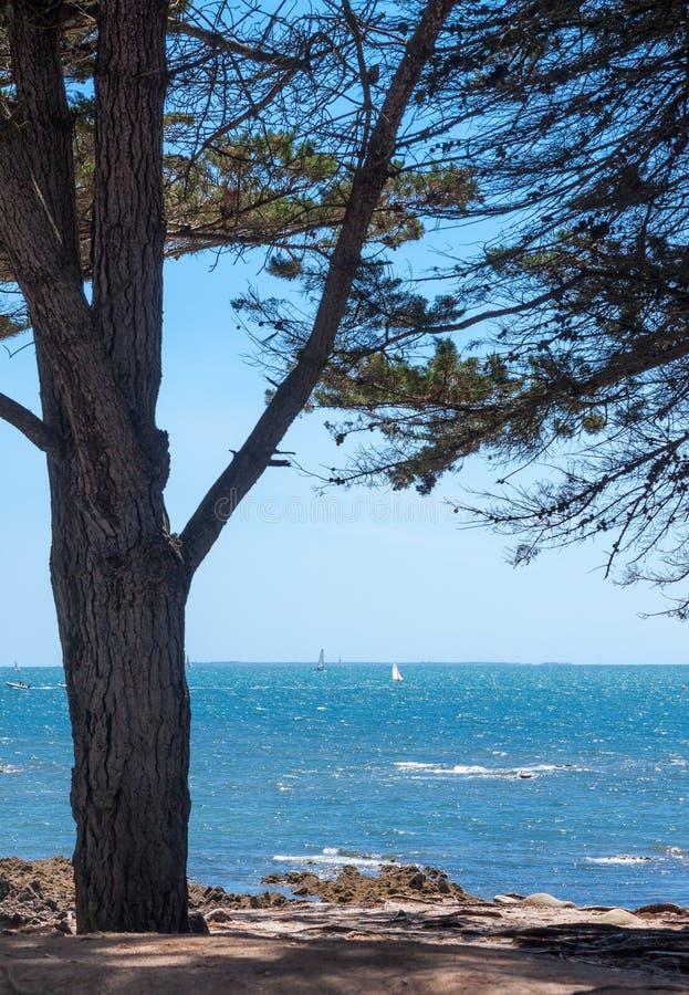 Uma vista do golfo de Morbihan imagem de stock
