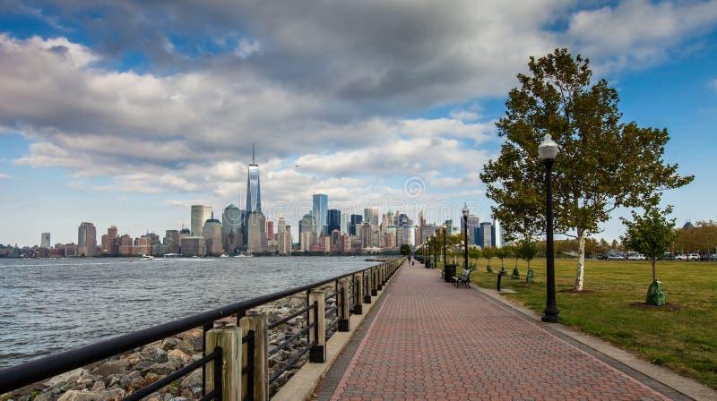 Uma vista do Lower Manhattan fotografia de stock royalty free