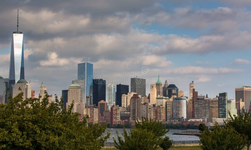 Uma vista do Lower Manhattan imagem de stock