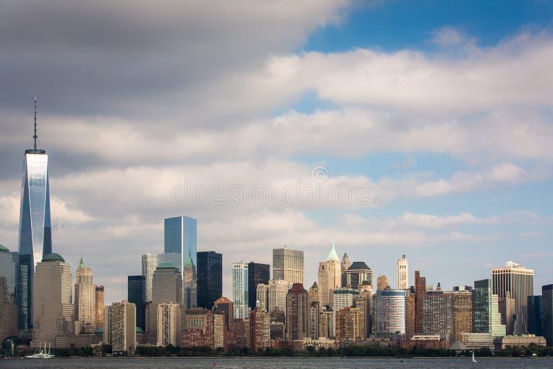 Uma vista do Lower Manhattan imagens de stock royalty free