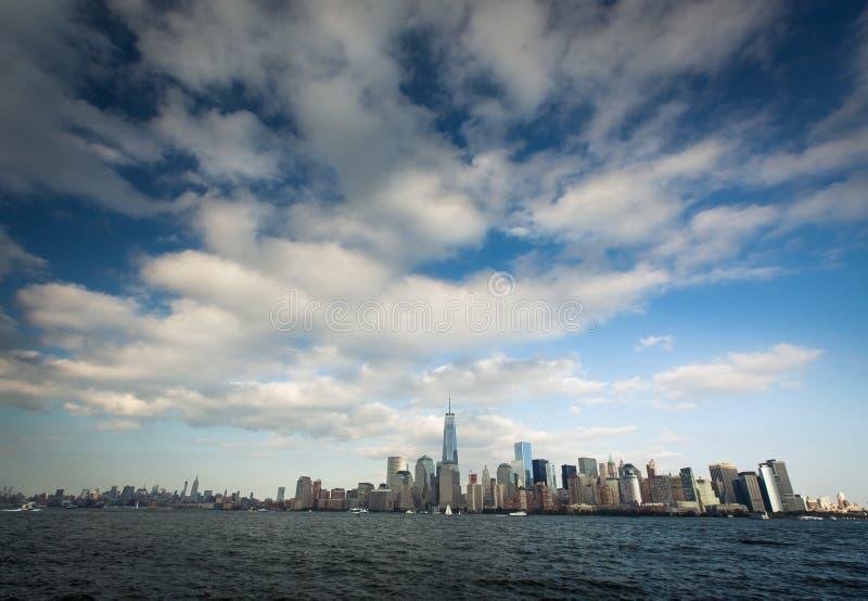 Uma vista do Lower Manhattan fotos de stock royalty free