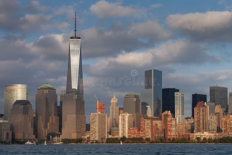 Uma vista do Lower Manhattan imagem de stock royalty free