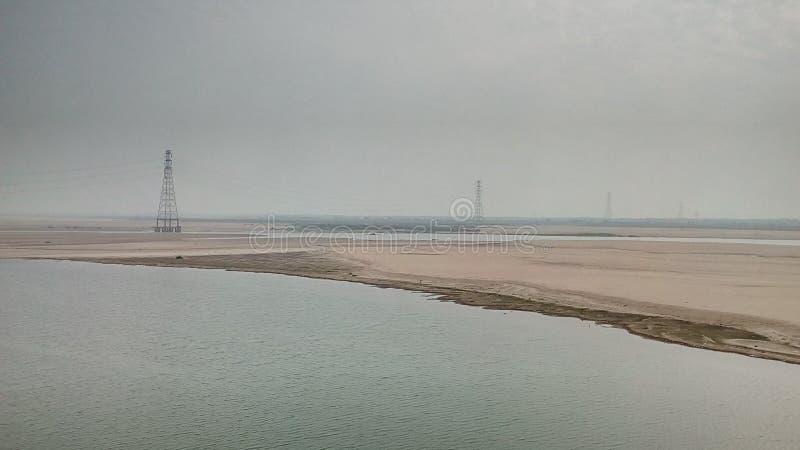 Uma vista do rio Godavari imagem de stock