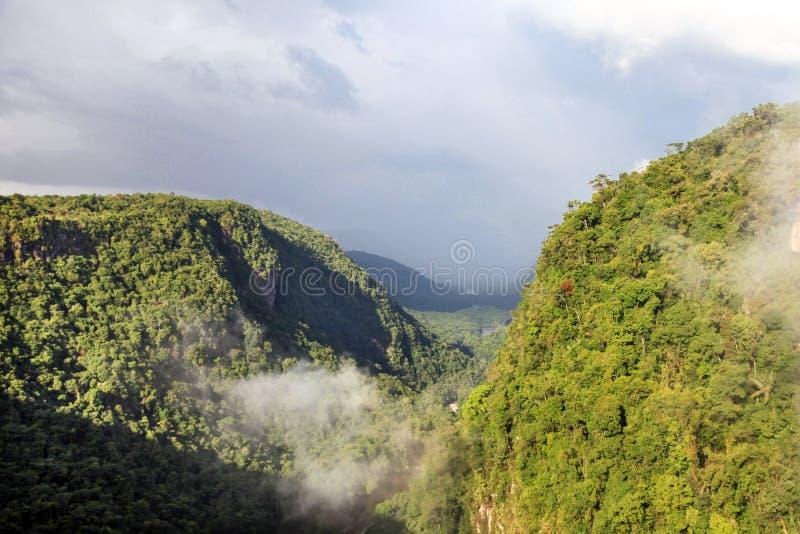 Uma vista do River Valley, Berbice do leste, rio abaixo de quedas de Kaieteur, Guiana fotos de stock royalty free