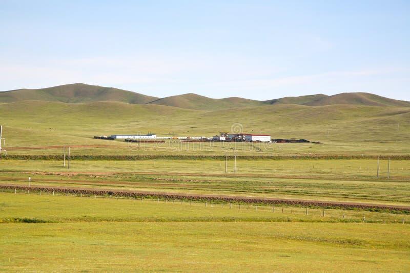 Uma vista do trem transiberiano em Ulaanbaatar, Mongólia fotos de stock royalty free