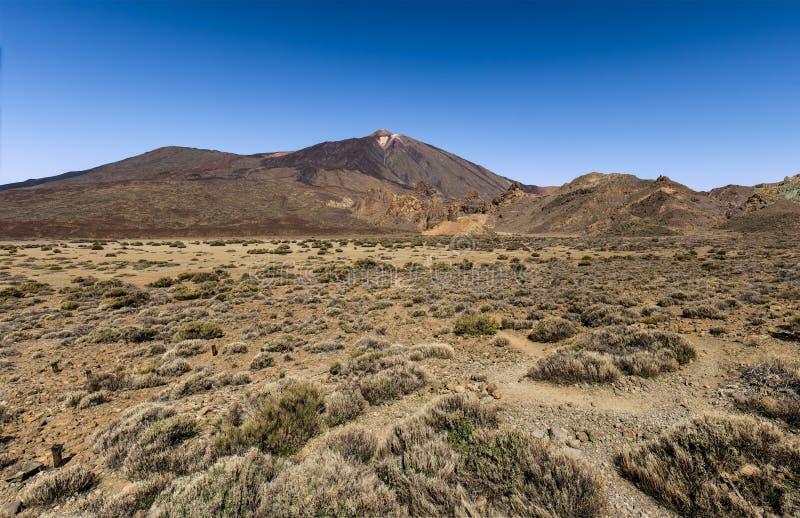 Uma vista do vulcão de Teide imagem de stock