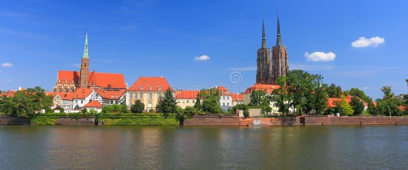 Uma vista do Wroclaw poland imagem de stock