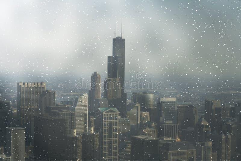 Uma vista em Chicago da baixa fotos de stock