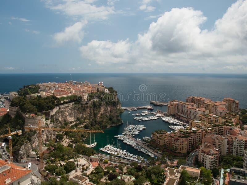 Uma vista em um porto em Monte - Carlo imagens de stock