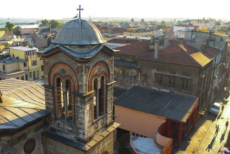 Uma vista em uma igreja de Istambul foto de stock