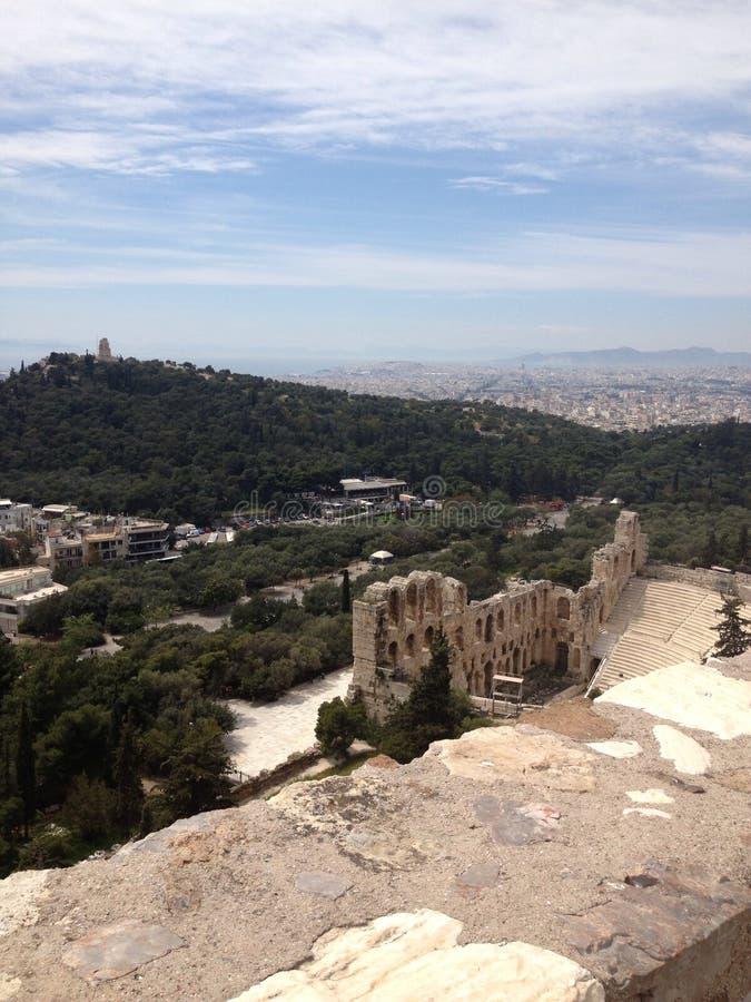 Uma vista espetacular de Grécia imagens de stock royalty free