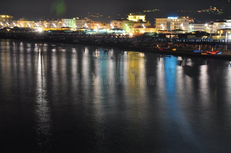 Uma vista esplêndida da praia de Viareggio imagem de stock royalty free