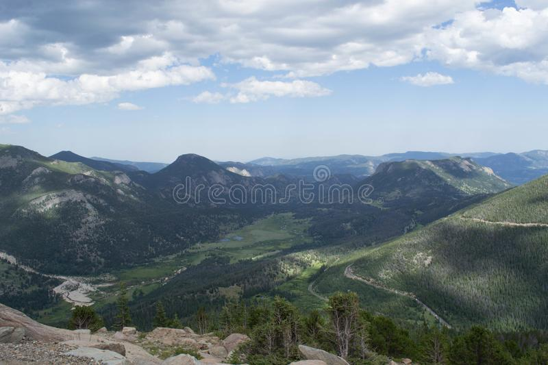 Uma vista geral cênico de Rocky Mountains, Colorado imagens de stock royalty free