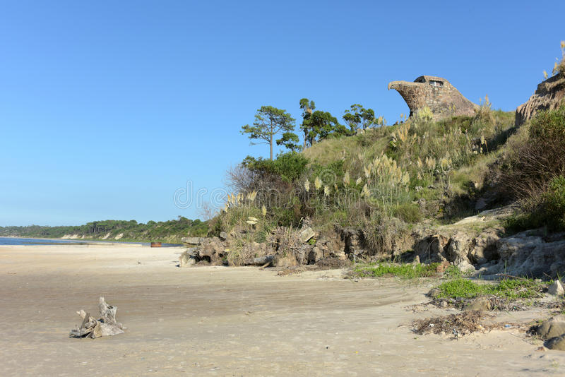 Uma vista geral do EL Aguila Eagle, Atlantida, Uruguai imagem de stock royalty free