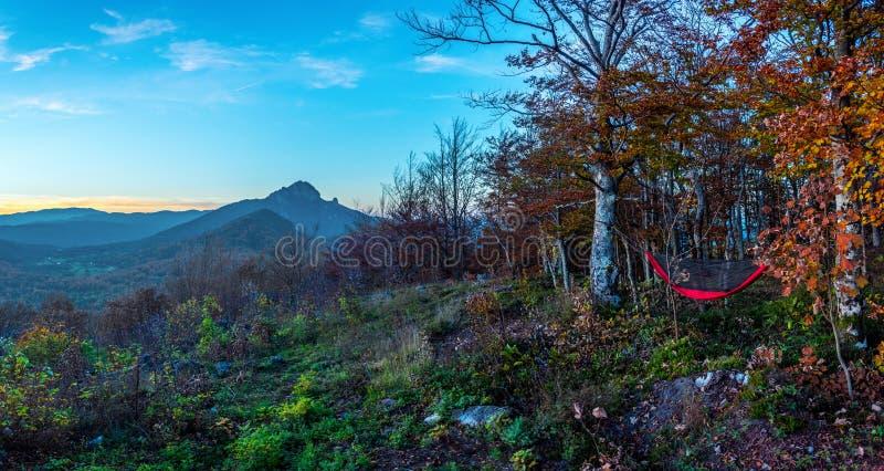 Uma vista na montanha Klek de uma rede fotos de stock royalty free