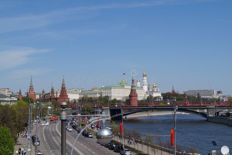 Uma vista no Kremlin fotografia de stock