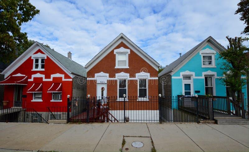 Uma vizinhança colorida fotos de stock royalty free
