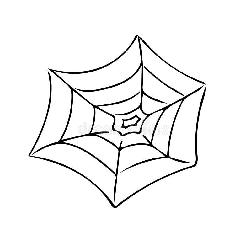 Uma Web de aranha ilustração do vetor