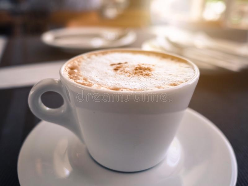 Uma xícara de café imagem de stock
