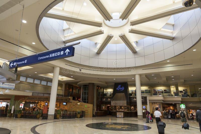 Uma zona aberta do aeroporto de Minneapolis em Minnesota o 2 de julho, 201 imagem de stock royalty free