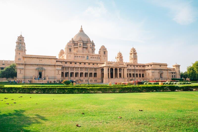 Umaid Bhawan宫殿历史大厦在印度 免版税库存照片