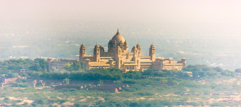 Umaid Bhawan宫殿,印度 免版税图库摄影