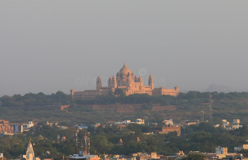 Umaid Bhawan Palace historical building Jodhpur India. Umaid Bhawan Palace historical building in Jodhpur India stock images
