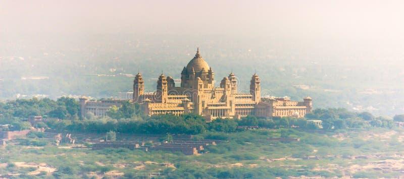 Umaid Bhawan slott, Indien royaltyfri fotografi
