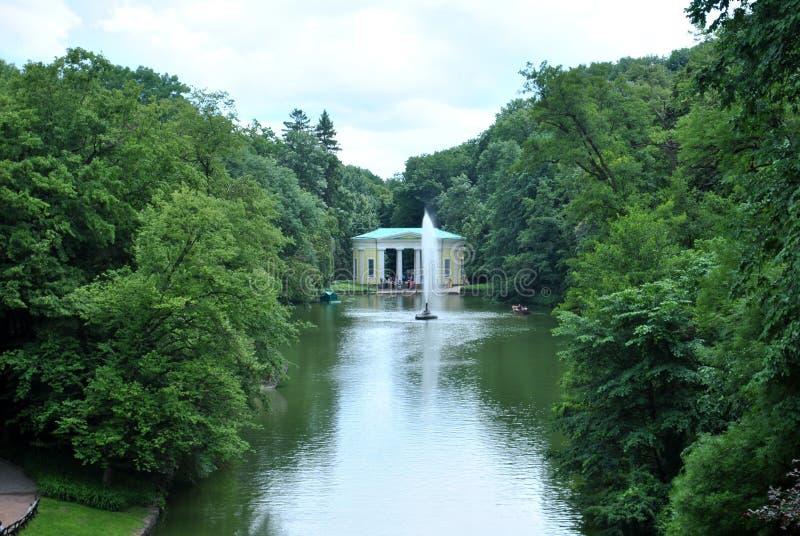 Uman Parque de Sofiyivka Natureza Ucrânia Fonte foto de stock royalty free