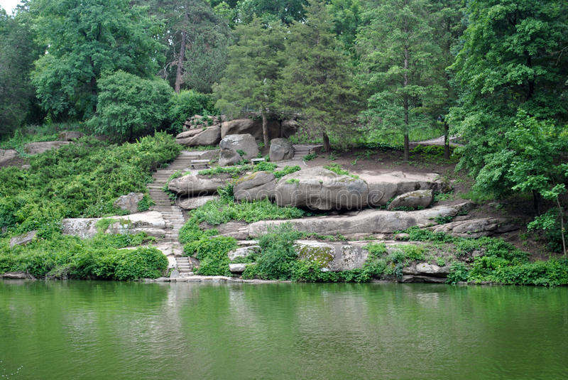 Uman Sofiyivka parkerar Natur Ukraina royaltyfria foton