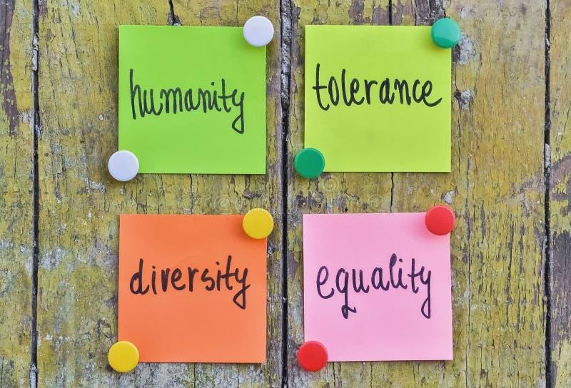 Umanità e tolleranza immagini stock libere da diritti