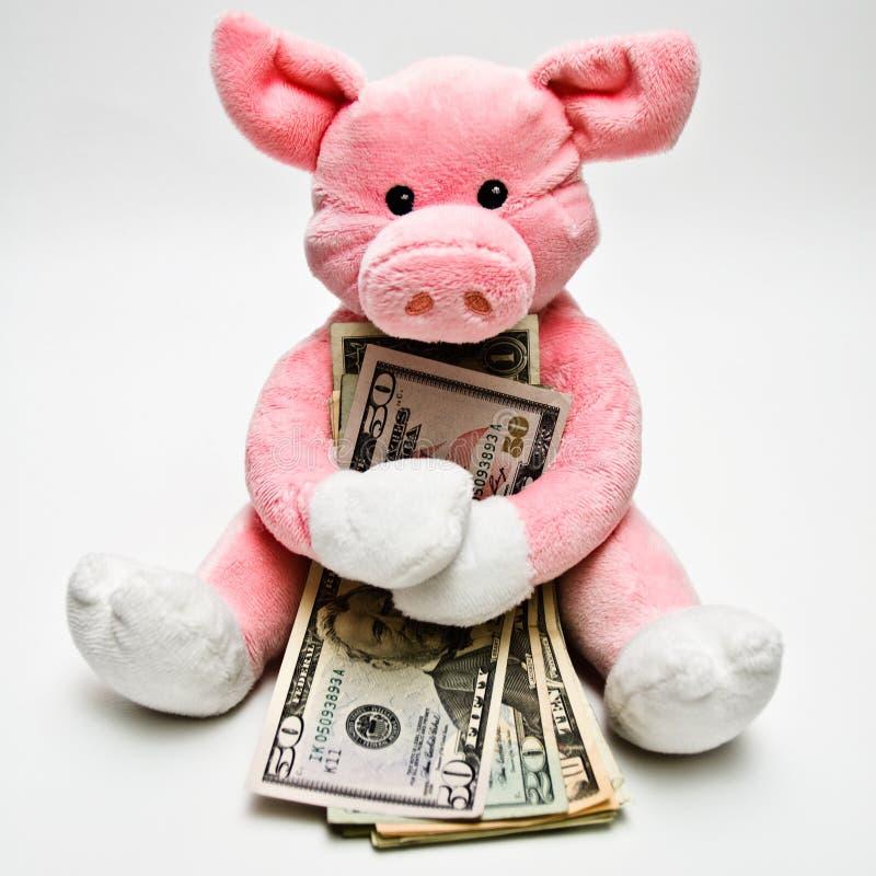 Umarmen des Geldes lizenzfreie stockbilder