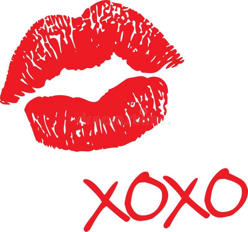 Umarmungen und Küsse lizenzfreie abbildung