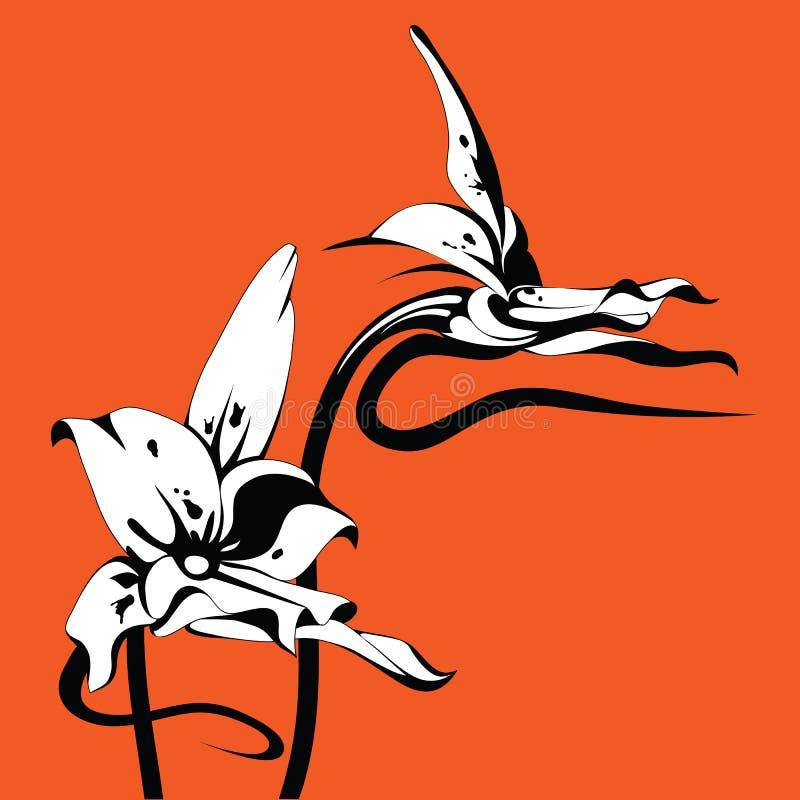 Umas outras orquídeas ilustração royalty free