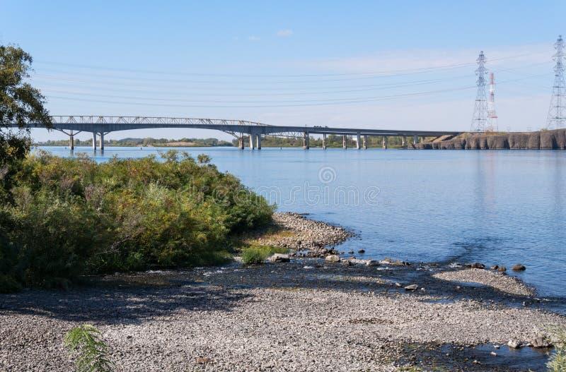 Umatilla Bridge, Columbia River. The Umatilla Bridge near McNary Dam on the Columbia River royalty free stock images