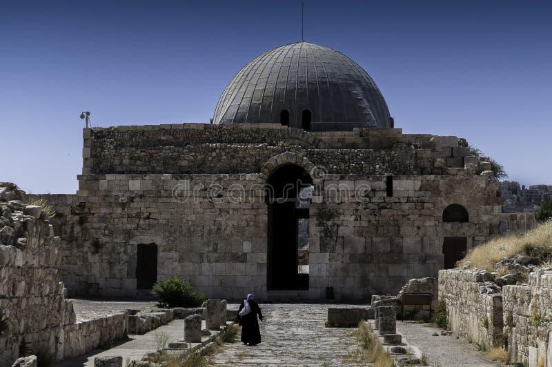 Umayyad宫殿在阿曼,约旦 库存图片
