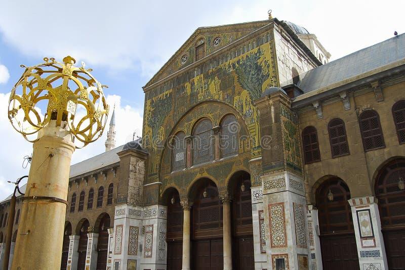 Umayyad清真寺-在内战前的大马士革-叙利亚 库存照片