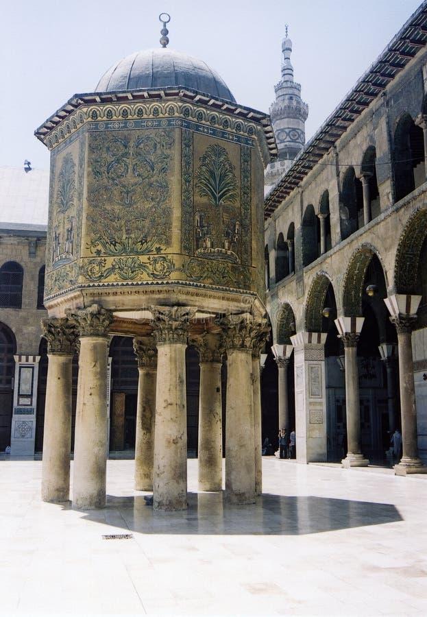 umayyad för damascus storslagen moskésyaria royaltyfri bild