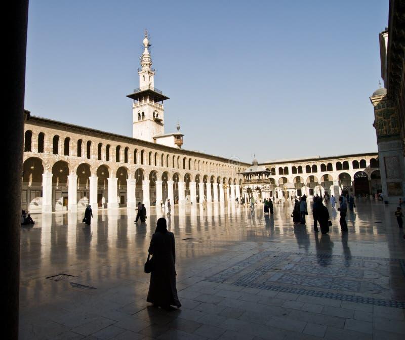 umayyad för moskésyria torn fotografering för bildbyråer