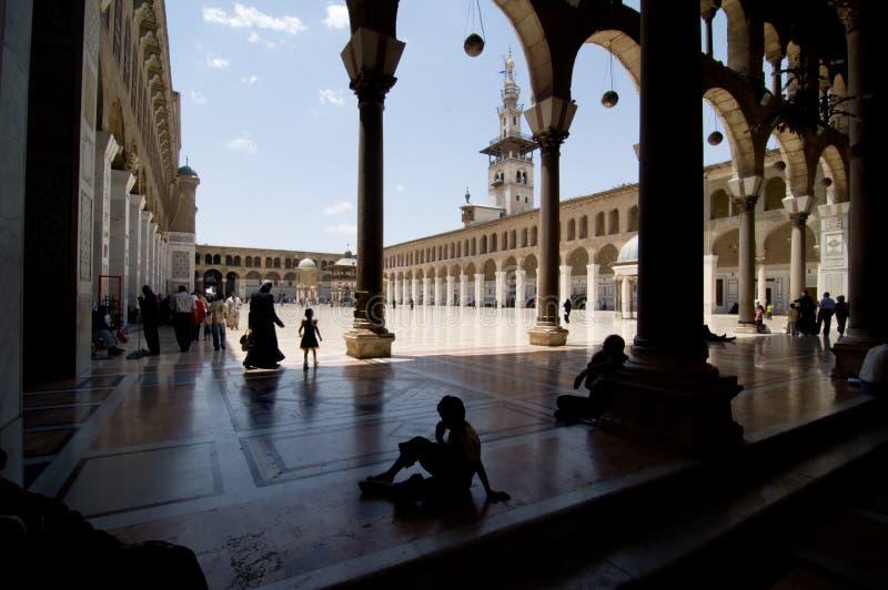 umayyad grand de mosquée de Damas image libre de droits