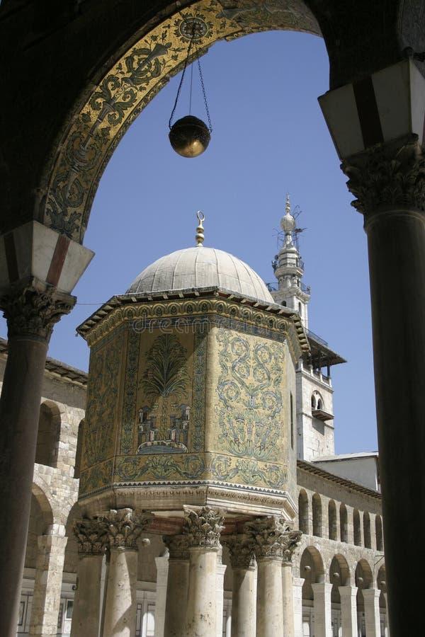 Umayyad moské Damascus arkivbilder