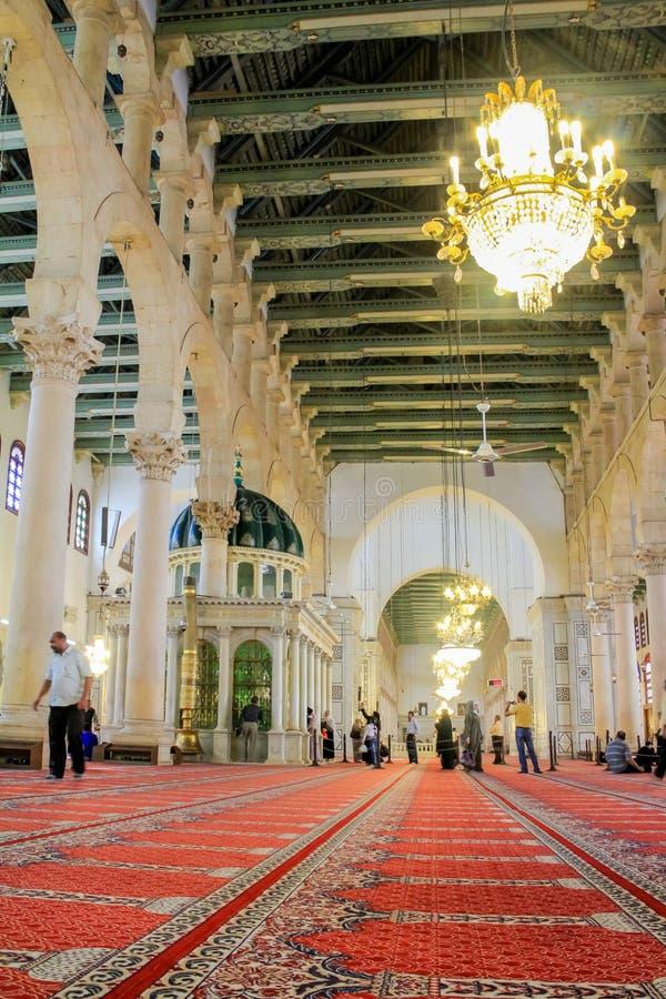 Umayyad moské, Damaskus arkivfoton